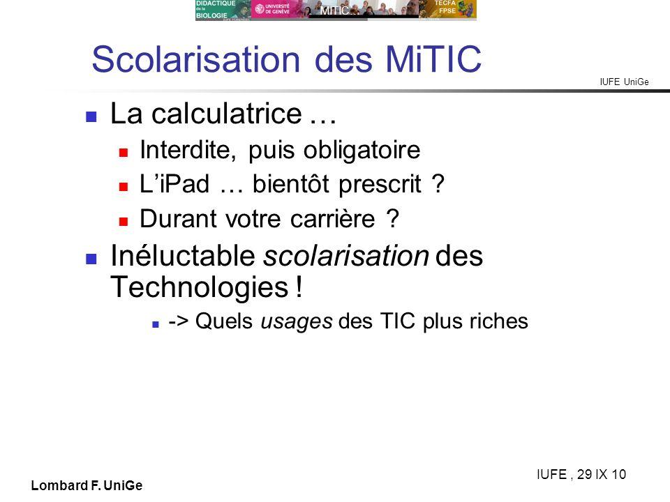 Scolarisation des MiTIC