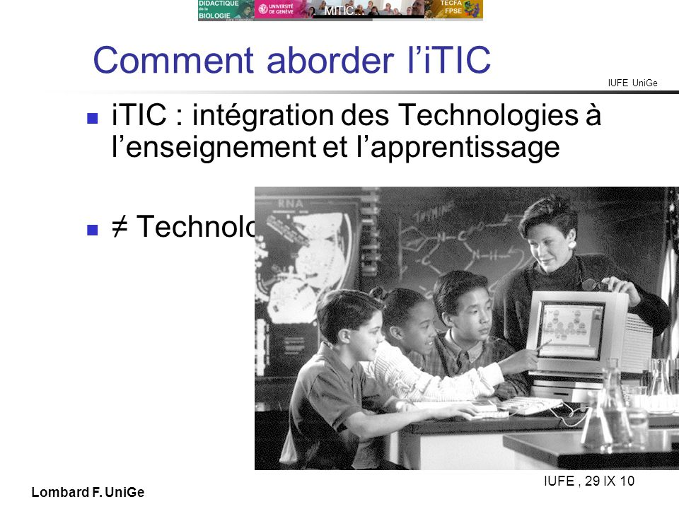 Comment aborder l'iTIC