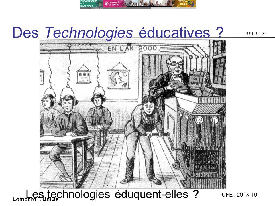 Des Technologies éducatives