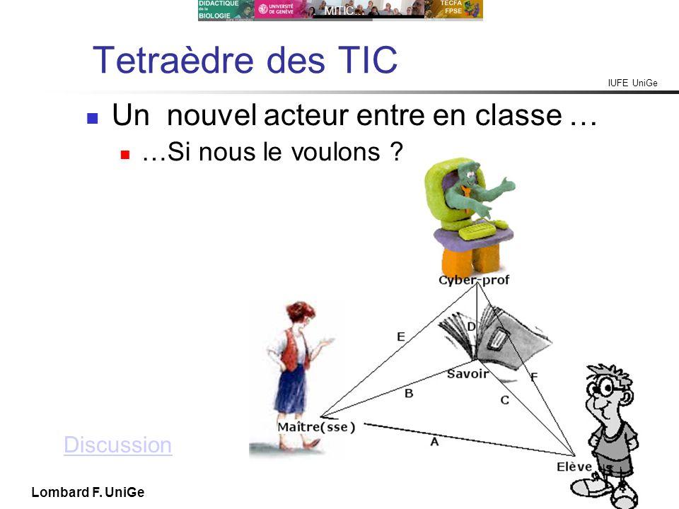 Tetraèdre des TIC Un nouvel acteur entre en classe …
