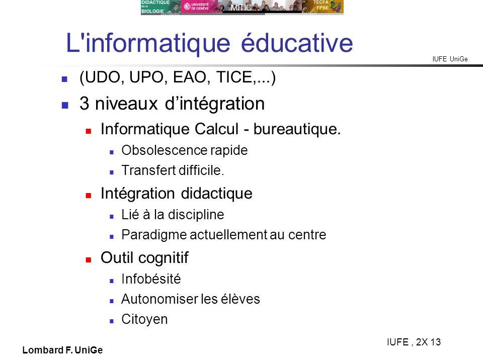 L informatique éducative
