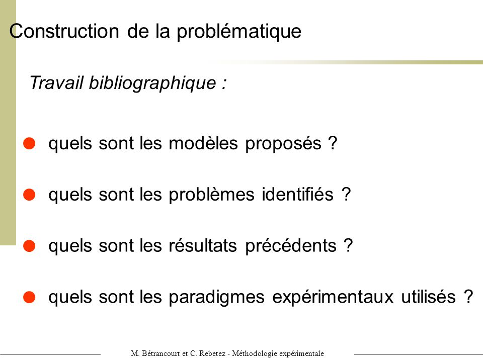 Construction de la problématique