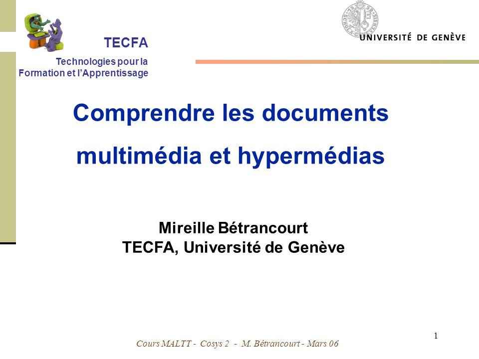 Comprendre les documents multimédia et hypermédias