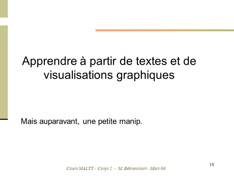 Apprendre à partir de textes et de visualisations graphiques