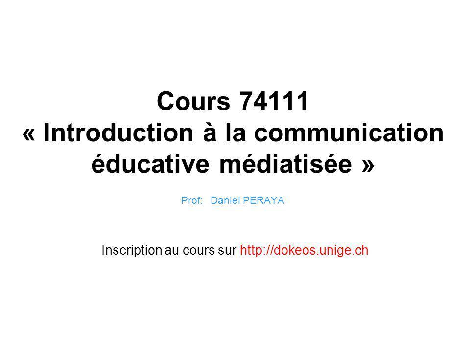 Inscription au cours sur http://dokeos.unige.ch