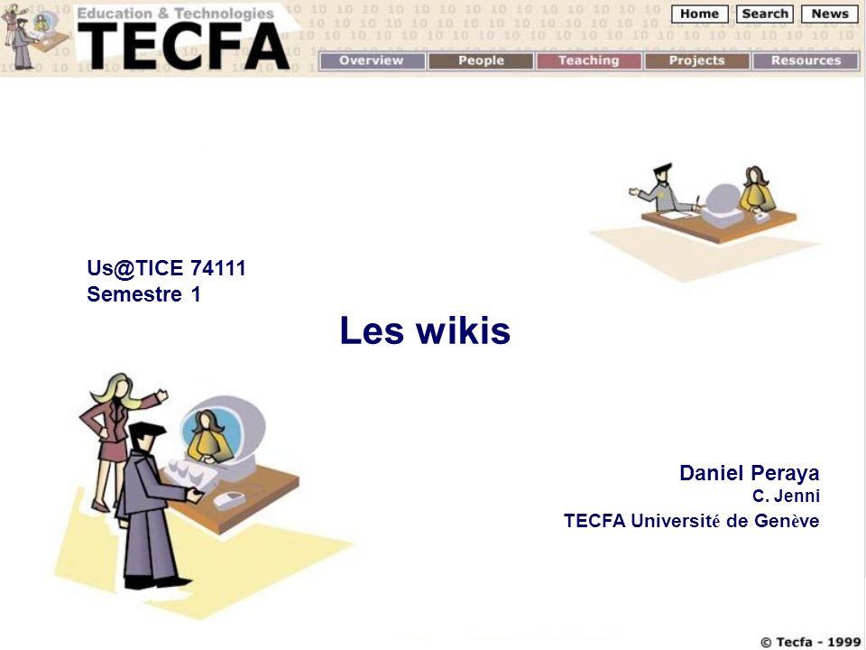 Us@TICE 74111 Semestre 1 Les wikis