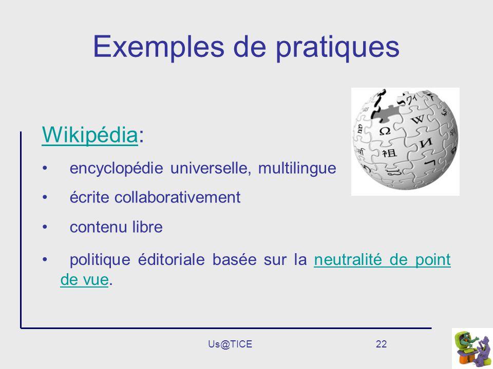 Exemples de pratiques Wikipédia: encyclopédie universelle, multilingue