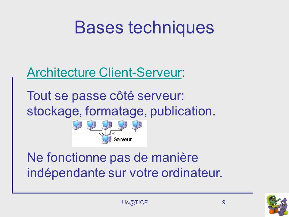 Bases techniques Architecture Client-Serveur: