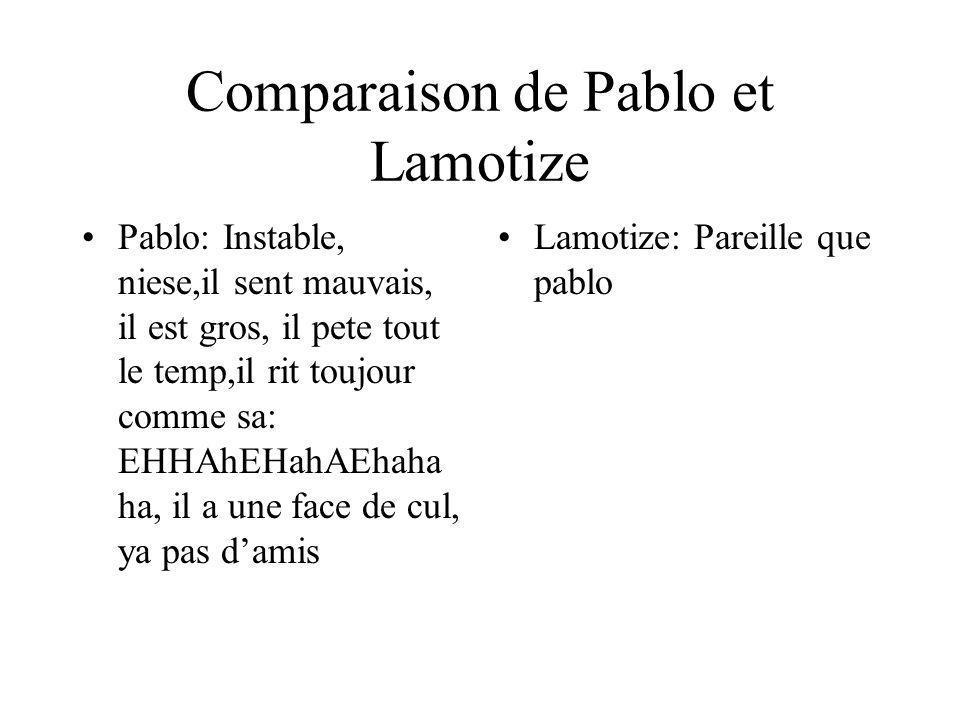 Comparaison de Pablo et Lamotize