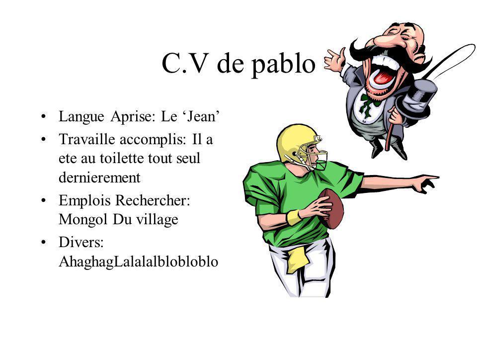 C.V de pablo Langue Aprise: Le 'Jean'