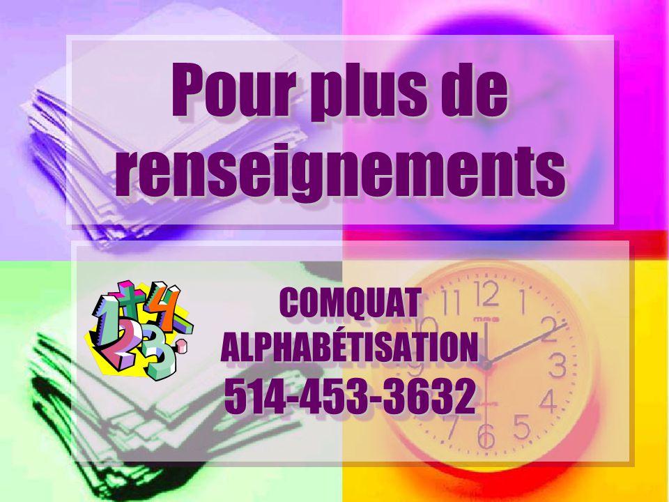 COMQUAT ALPHABÉTISATION 514-453-3632