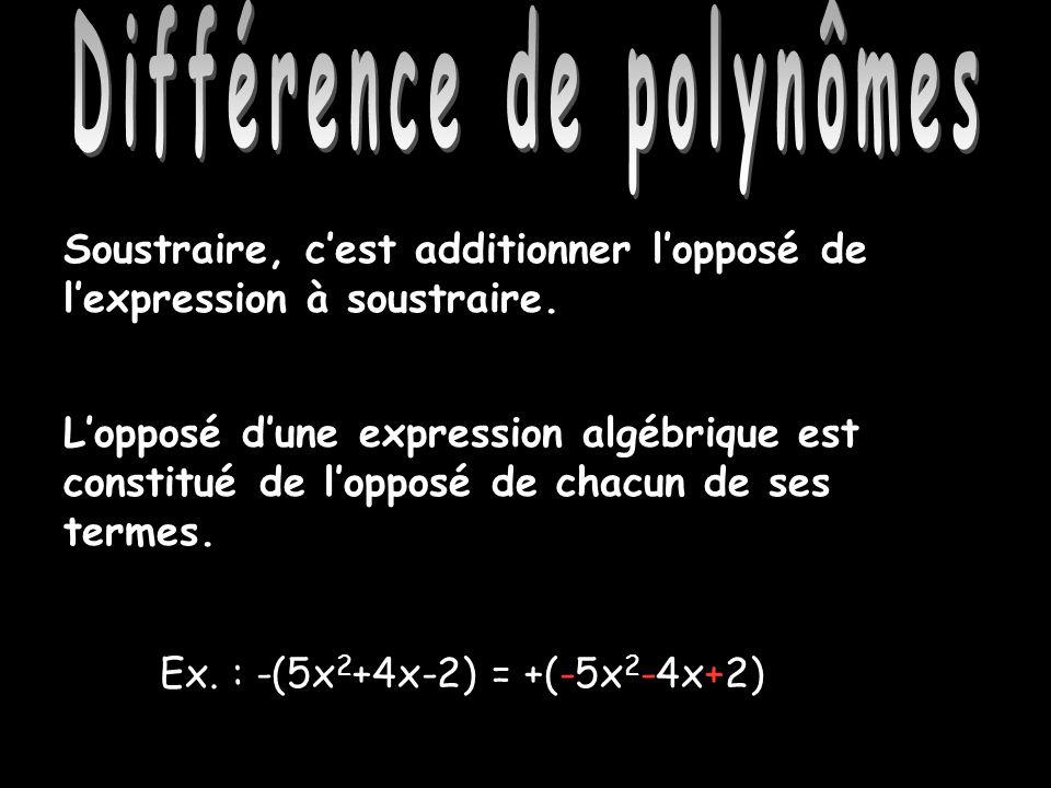 Différence de polynômes