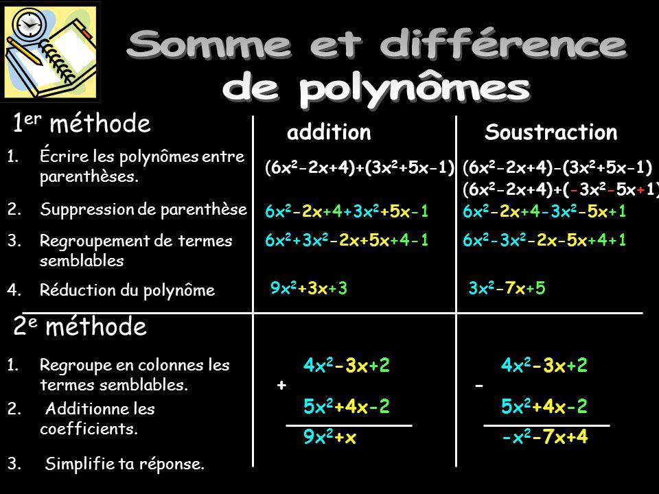 Somme et différence de polynômes