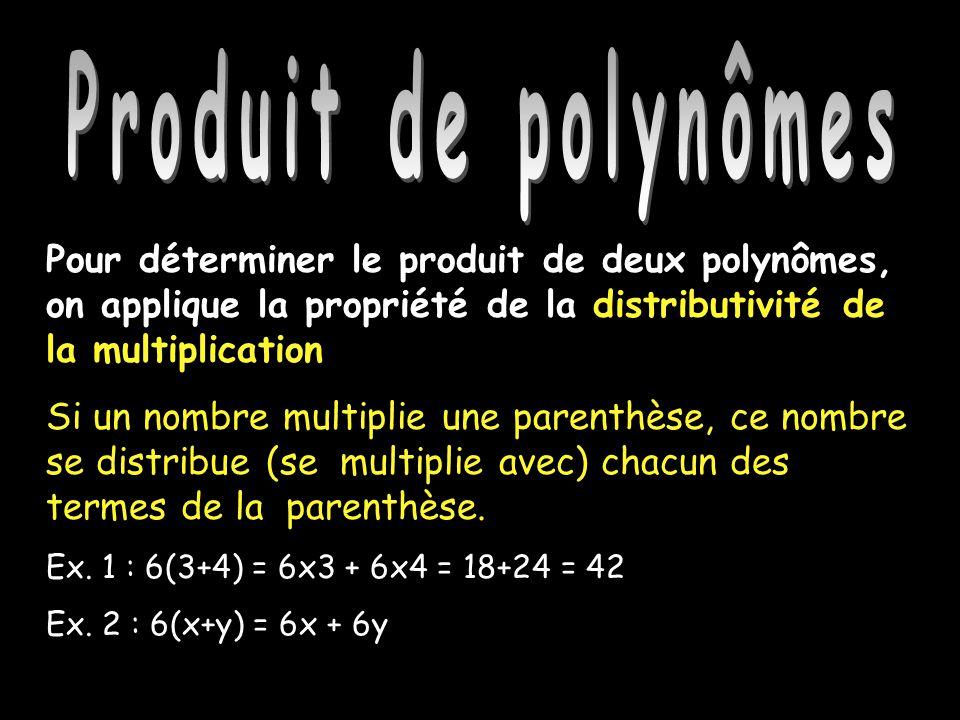 Produit de polynômes Produit de polynômes