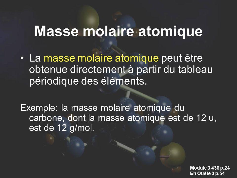 Masse molaire atomique