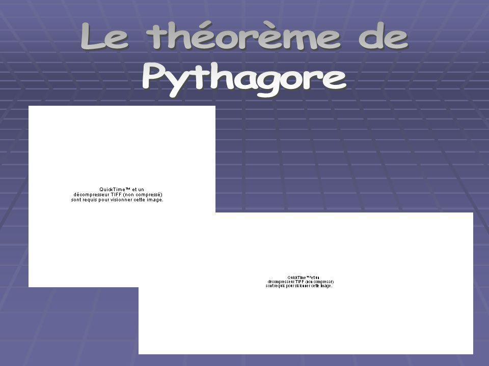 Le théorème de Pythagore