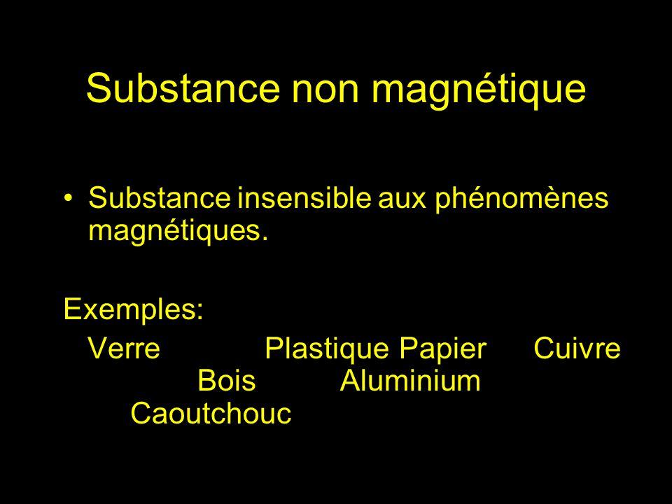 Substance non magnétique