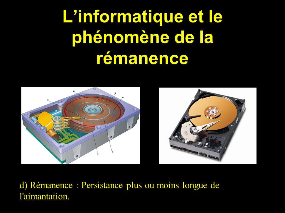 L'informatique et le phénomène de la rémanence