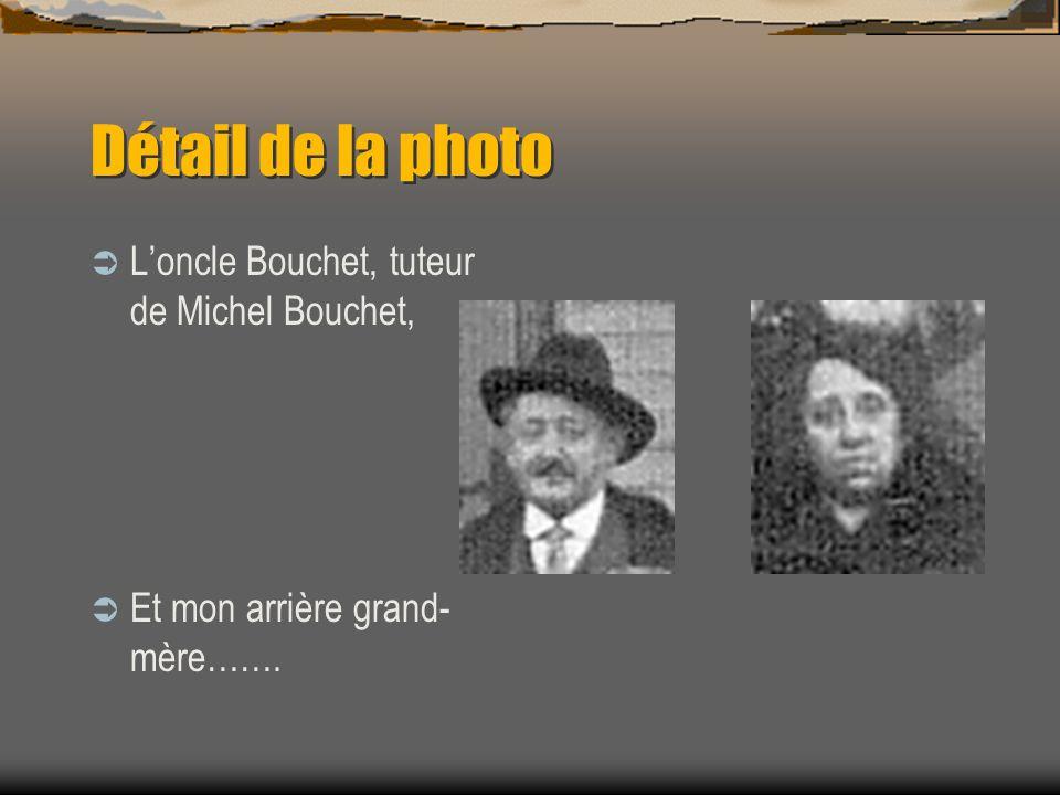 Détail de la photo L'oncle Bouchet, tuteur de Michel Bouchet,
