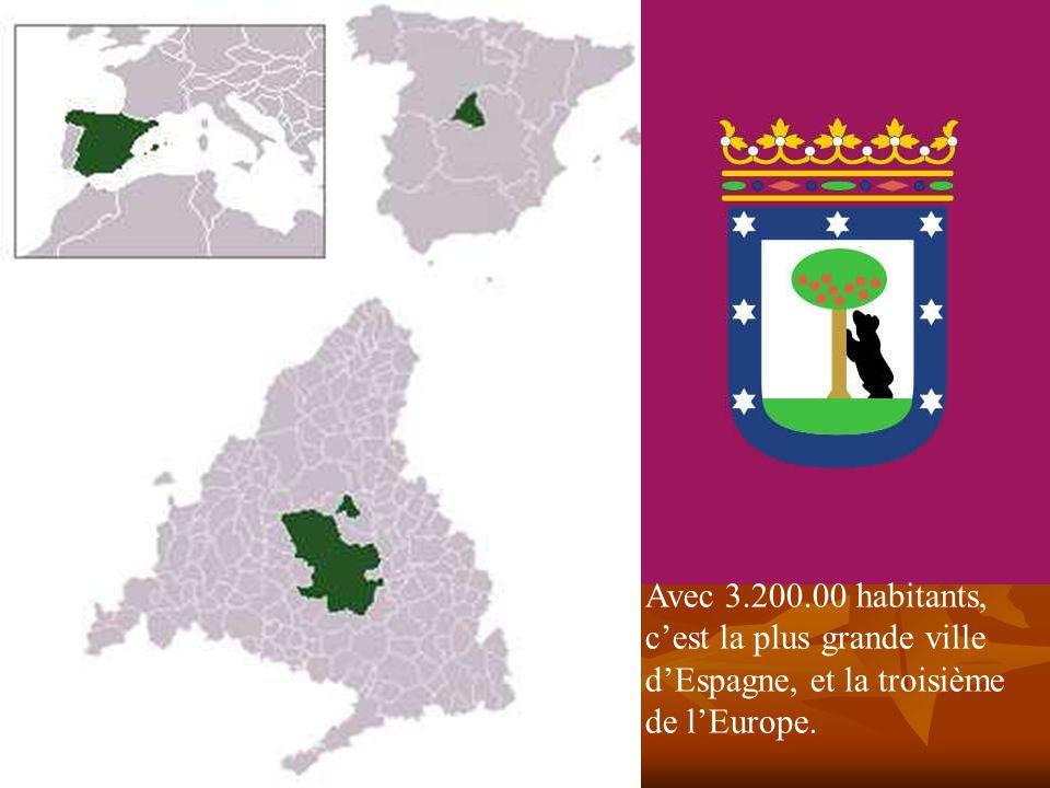 Avec 3.200.00 habitants, c'est la plus grande ville d'Espagne, et la troisième de l'Europe.