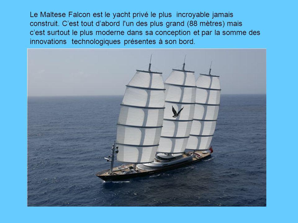 Le Maltese Falcon est le yacht privé le plus incroyable jamais construit.