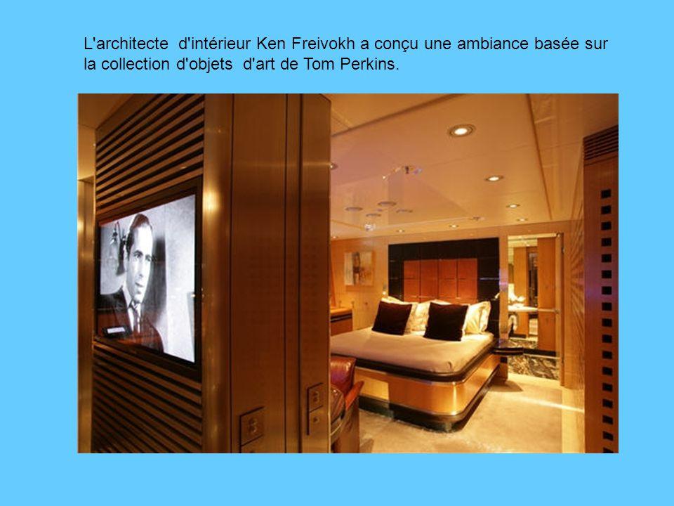 L architecte d intérieur Ken Freivokh a conçu une ambiance basée sur la collection d objets d art de Tom Perkins.