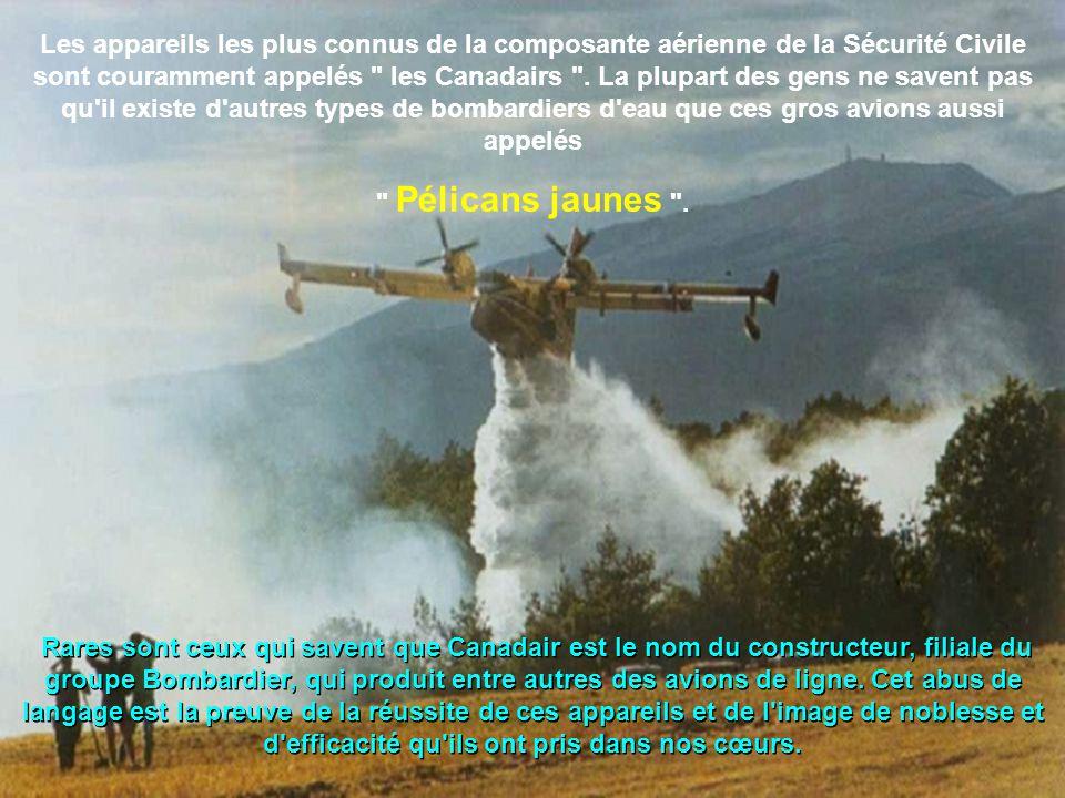 Les appareils les plus connus de la composante aérienne de la Sécurité Civile sont couramment appelés les Canadairs . La plupart des gens ne savent pas qu il existe d autres types de bombardiers d eau que ces gros avions aussi appelés