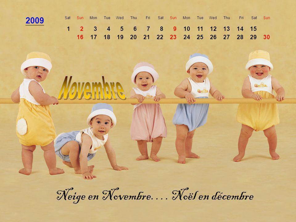 Neige en Novembre…. Noël en décembre