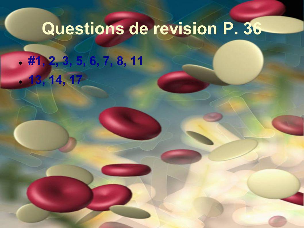 Questions de revision P. 36