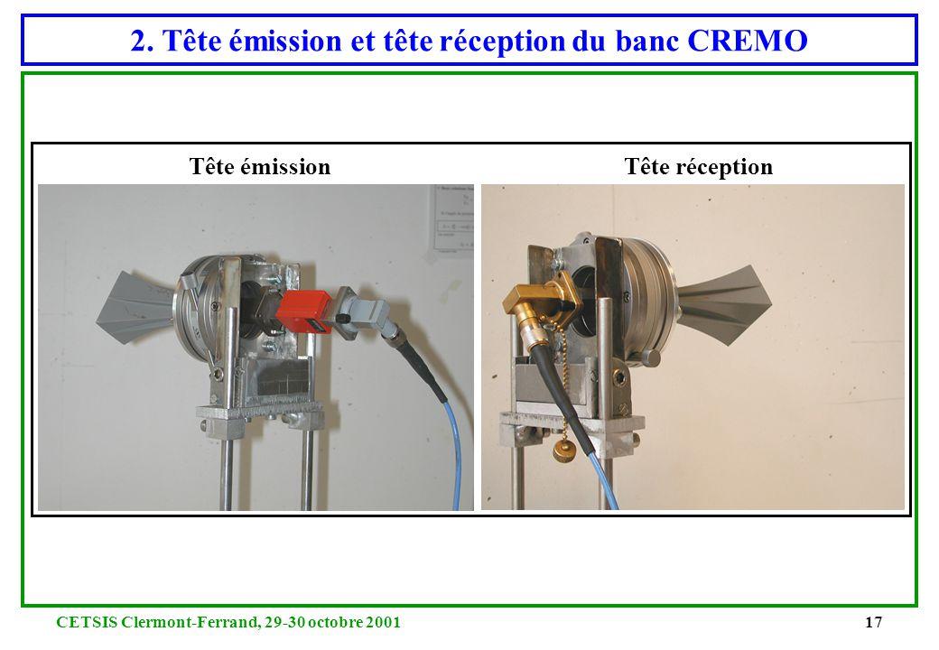 2. Tête émission et tête réception du banc CREMO