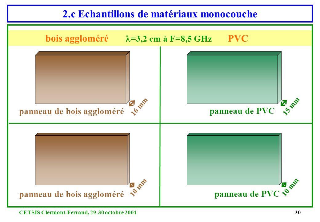 2.c Echantillons de matériaux monocouche
