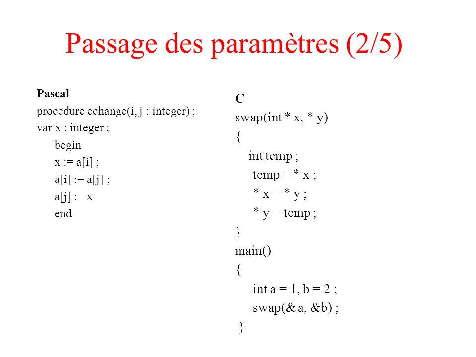 Passage des paramètres (2/5)