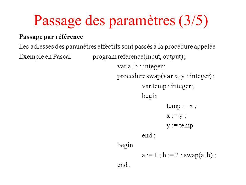 Passage des paramètres (3/5)
