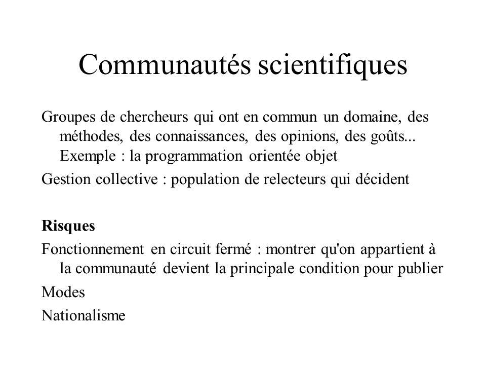 Communautés scientifiques