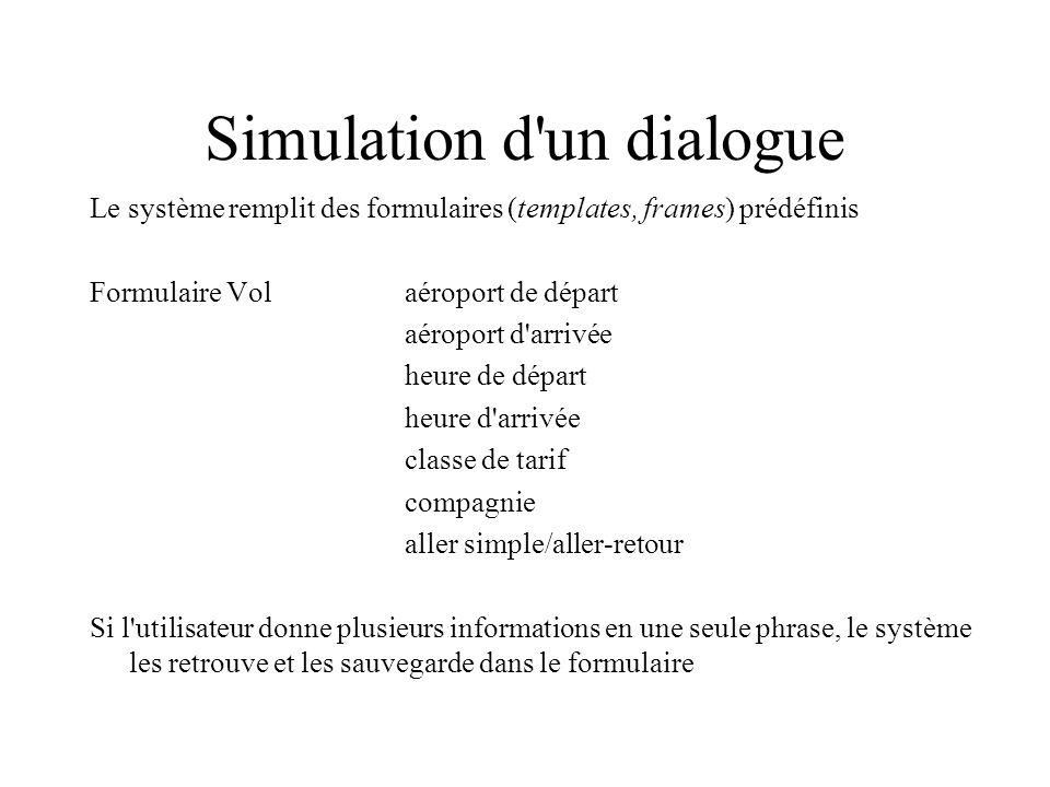 Simulation d un dialogue