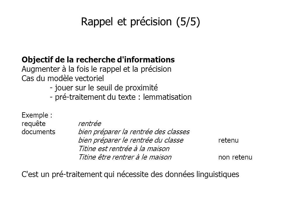 Rappel et précision (5/5)