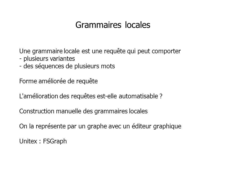 Grammaires locales