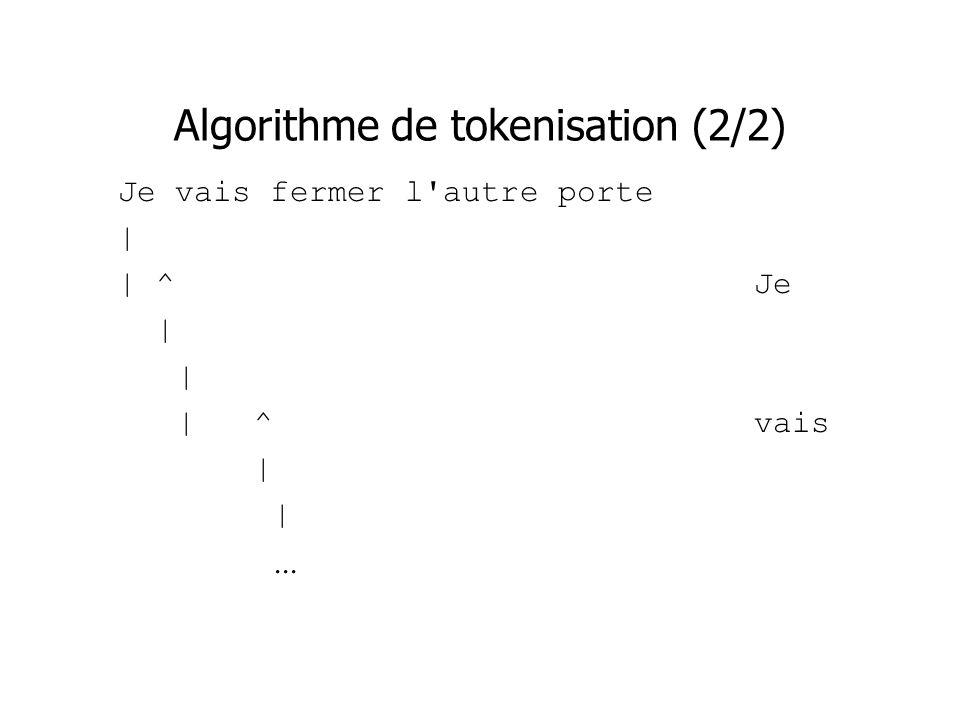 Algorithme de tokenisation (2/2)
