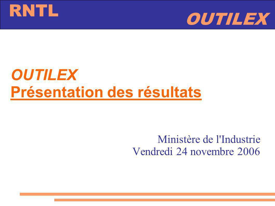 OUTILEX Présentation des résultats