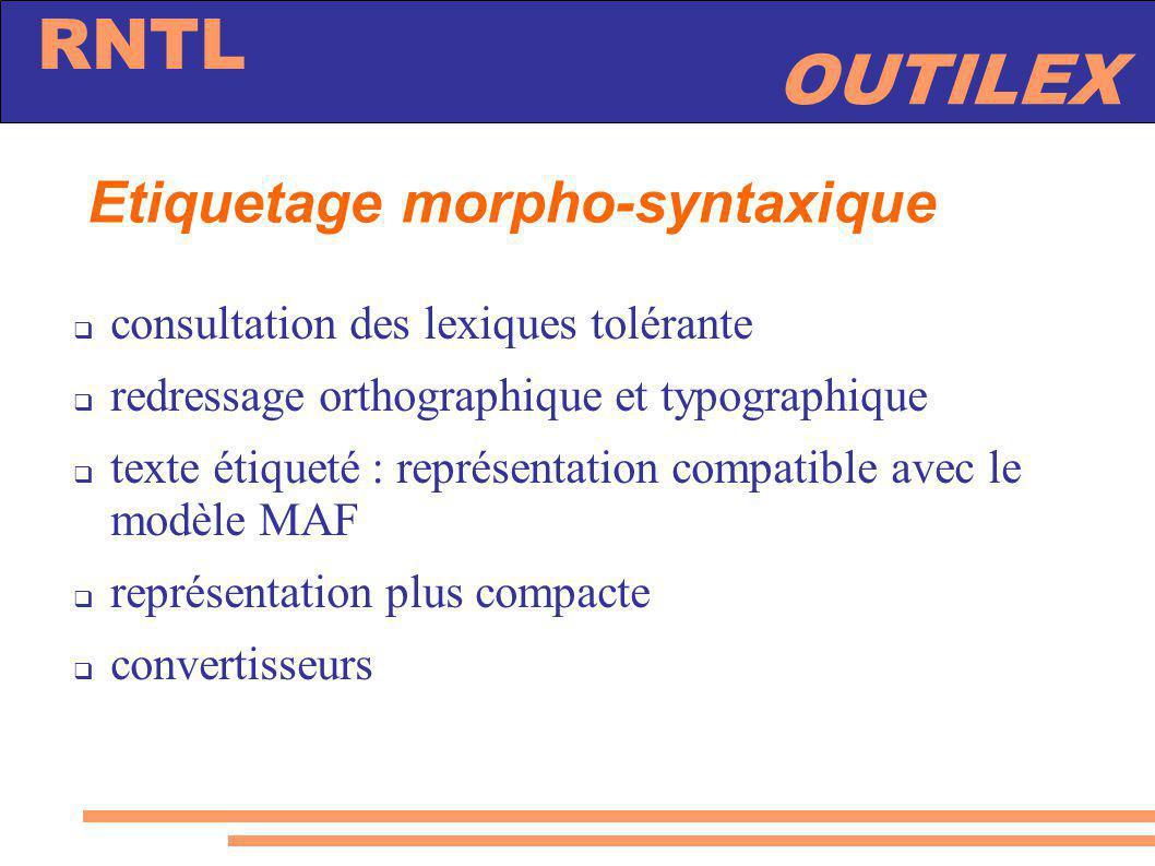 Etiquetage morpho-syntaxique