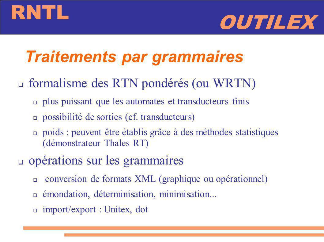 Traitements par grammaires