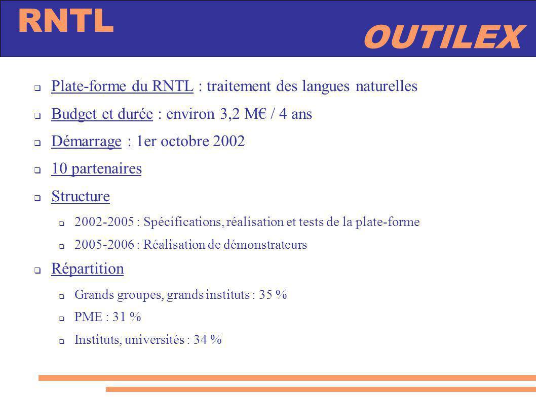 Plate-forme du RNTL : traitement des langues naturelles