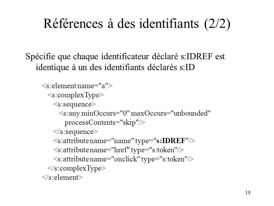 Références à des identifiants (2/2)