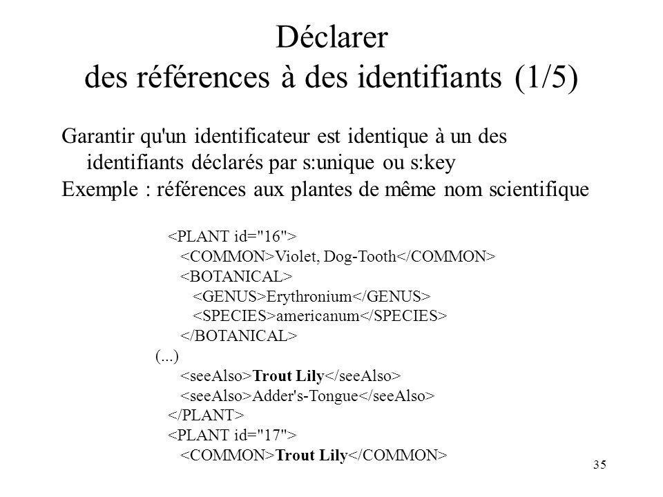 Déclarer des références à des identifiants (1/5)