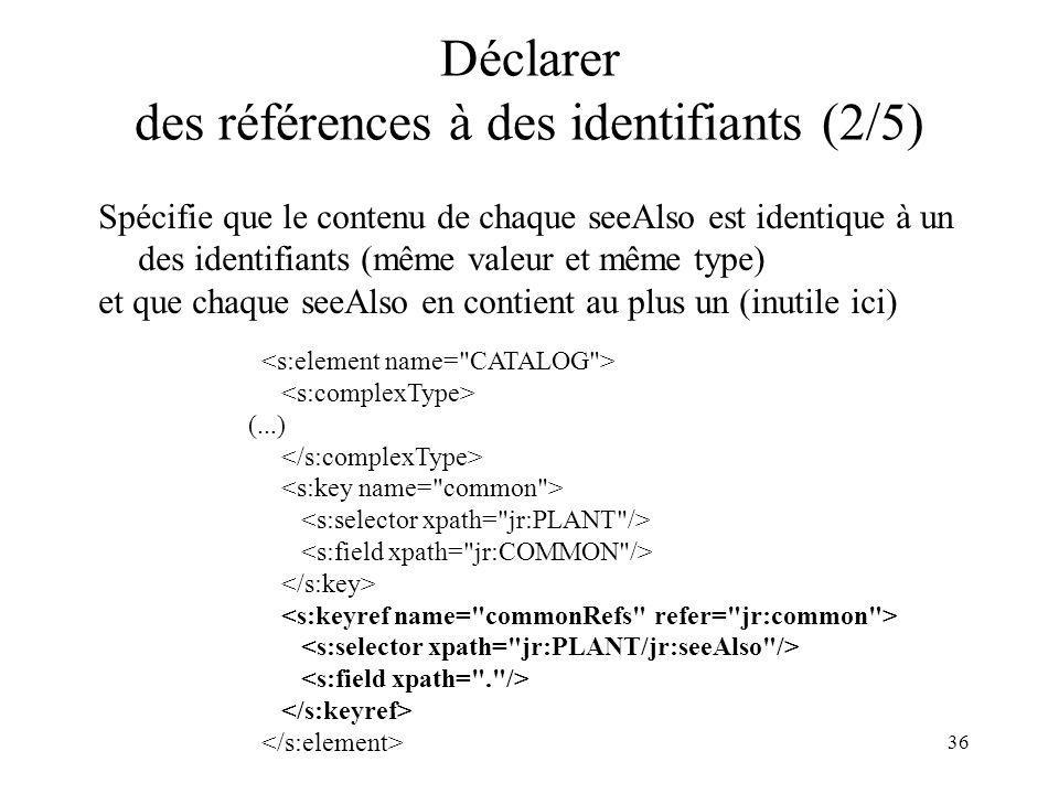 Déclarer des références à des identifiants (2/5)