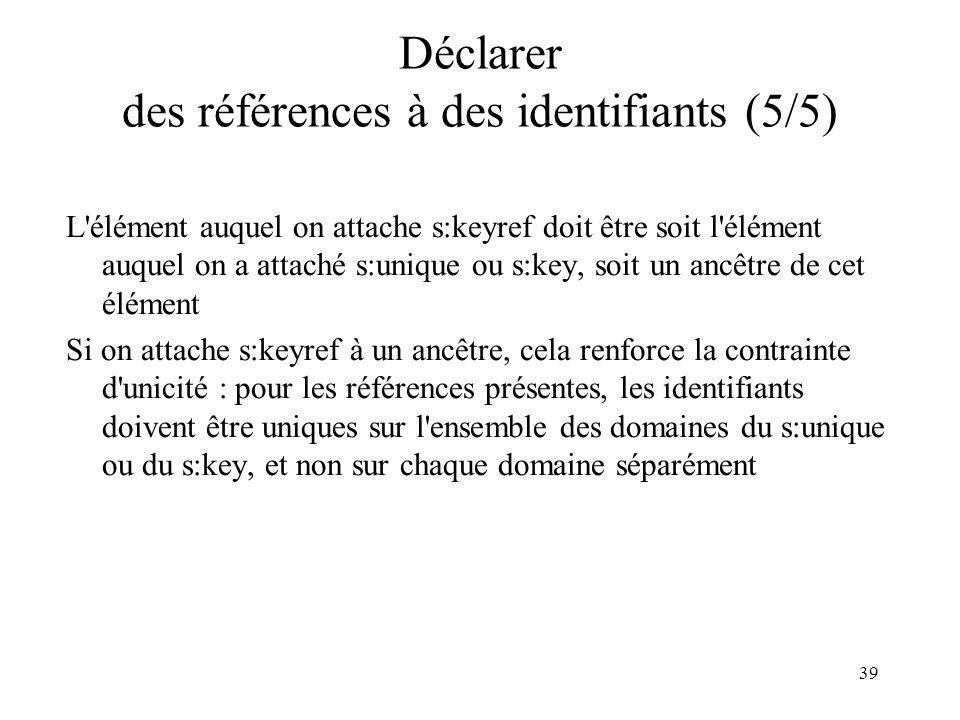 Déclarer des références à des identifiants (5/5)