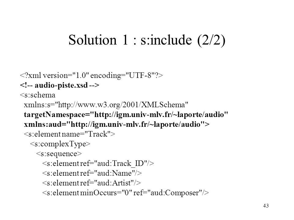 Solution 1 : s:include (2/2)