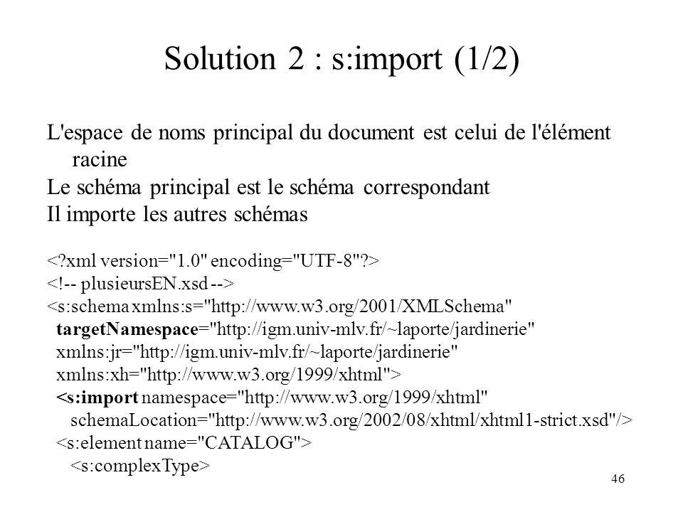 Solution 2 : s:import (1/2)
