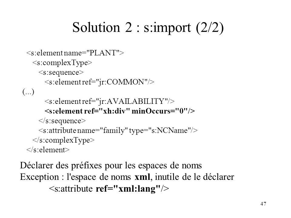 Solution 2 : s:import (2/2)