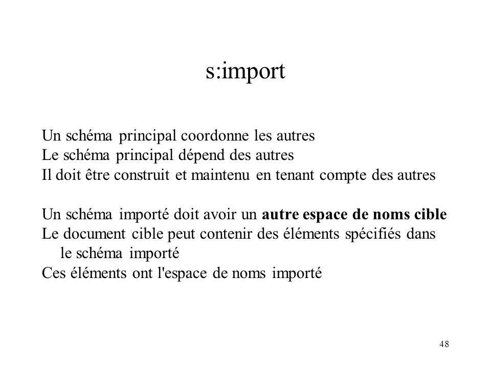 s:import Un schéma principal coordonne les autres
